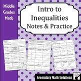Inequalities Notes & Practice (6.10A, 6.9B)