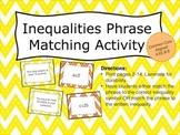 Inequalities Phrase Matching Activity