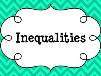 Inequalities Posters