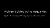 Problem Solving Using Inequalities PowerPoint Lesson (1.3)