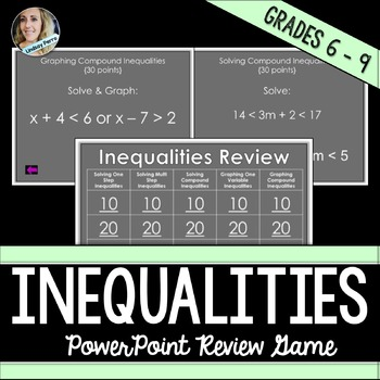 Inequalities PowerPoint Review Game