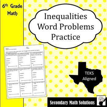 Inequalities Word Problems Practice
