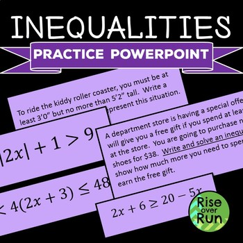 Inequalities, including Absolute Value, Practice Powerpoint