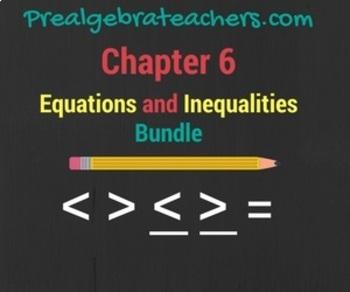 PreAlgebra: Inequalities Practice Problems BUNDLE