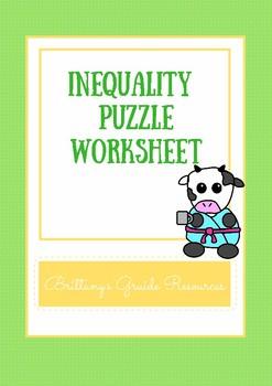 Inequalities Puzzle Worksheet