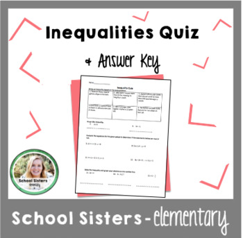 Inequalities Quiz & Answer Key