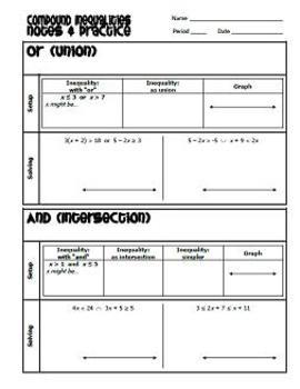 Inequalities Resources Set (4 files)