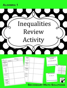 Inequalities Review Activity