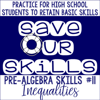 Inequalities SOS (Save Our Skills)
