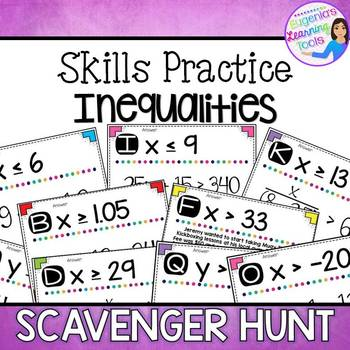 Inequalities - Scavenger Hunt