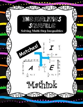 Inequalities Scramble Puzzle