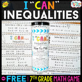 7th Grade Inequalities Game 7th Grade Math Review {I CAN M