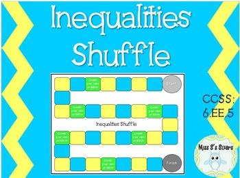 Inequalities Shuffle Board Game