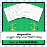 Inequalities (Single-Step & Multi-Step Inequalities)