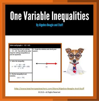 Solving and Graphing One Variable Inequalities Scaffold Notes