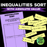 Inequalities Card Sort with Absolute Value