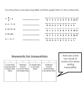 Inequalities Study Guide