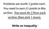 Inequalities Study Guide/Assessment