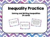 Inequalities Task Cards Bundle Set
