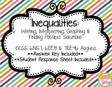 Inequalities Task Cards - Writing, Interpreting, Graphing CCSS 7.EE.4b & 6.EE.8