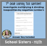 Inequalities Task: Investigate multiplying or dividing ine