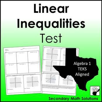 Inequalities Test (A3D, A2H, A5B)