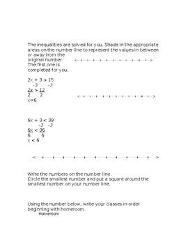 Inequalities Test