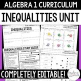 Inequalities Unit - Algebra 1