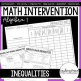 Inequalities Unit Algebra 1 Intervention Program