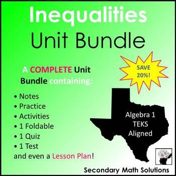 Inequalities Unit Bundle (A2H, A3D, A3H, A5B)