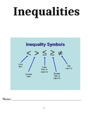 Inequalities Unit Packet