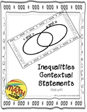 Inequalities Verbal Statements Foldable