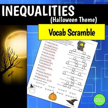 Inequalities Vocabulary Scramble