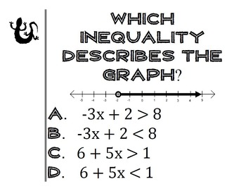 Inequalities Activity