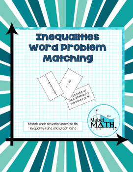 Inequalities Word Problem Matching