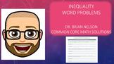 Inequalities: Word Problems