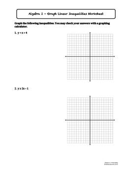 Inequalities Worksheet Bundle