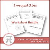 Inequalities Worksheet Bundle