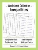 Inequalities - Worksheet Collection