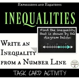 Write an inequality from a number line Task Card Activity for inequalities