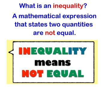 Inequalities Writing and Graphing Intro to Inequalities Smartboard w Worksheets