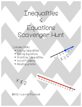 Inequalities and Equations Scavenger Hunt