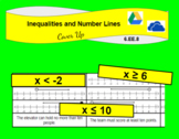 Inequalities and Number Lines Digital Cover Up Activity (6.E.E.B.8)