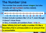 Inequalities and the Number Line PPT and Worksheets