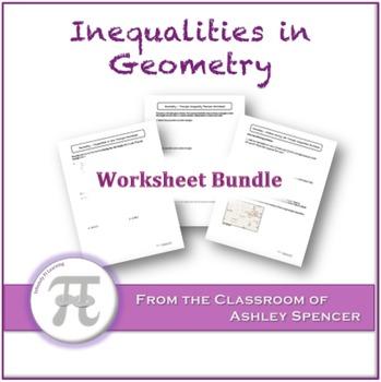 Inequalities in Geometry Worksheet Bundle