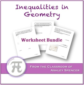 Inequalities in Geometry Worksheet Bundle