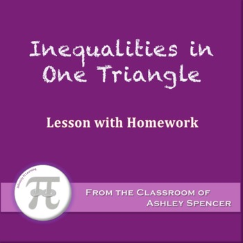 Inequalities in One Triangle (Lesson with Homework)