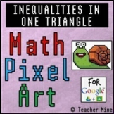Inequalities in One Triangle - Math Pixel Art Digital Activity - Snail