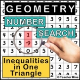 Inequalities in One Triangle - Number Search Activity