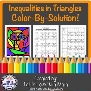 Inequalities in Triangles Color-By-Number!